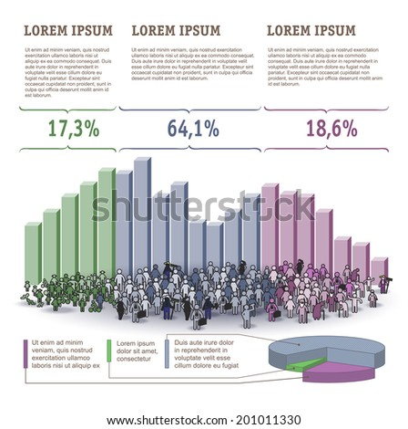 Demography Infographics. Vector template. - stock vector