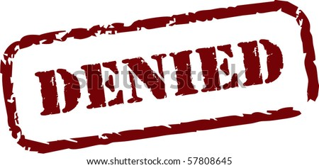 Denied rubber stamp - stock vector