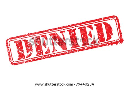 Denied rubber stamp vector illustration. Contains original brushes - stock vector