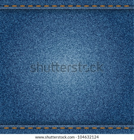 Denim background. Vector eps10 illustration. - stock vector