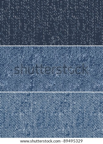 denim swatches repeating patterns