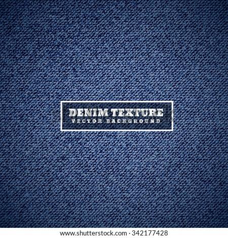 denim texture in blue - stock vector