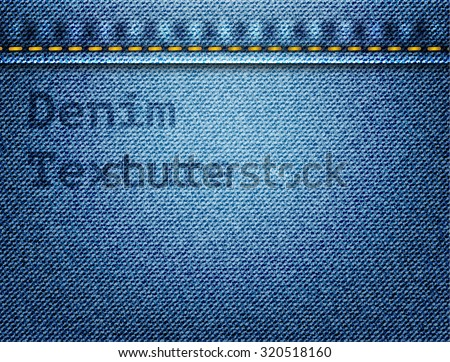 Denim texture with seam fully editable vector file - stock vector