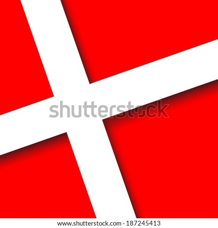 Denmark 3d square Button