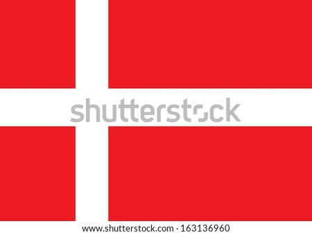 Denmark Flag - stock vector