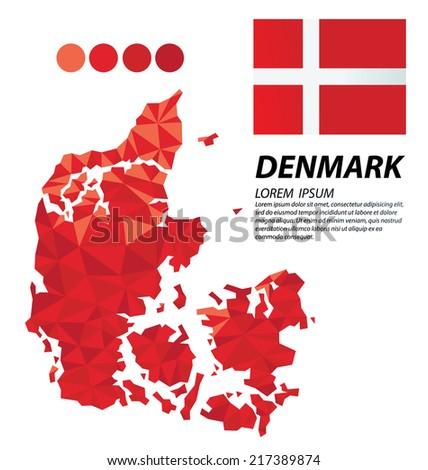 Denmark geometric concept design - stock vector