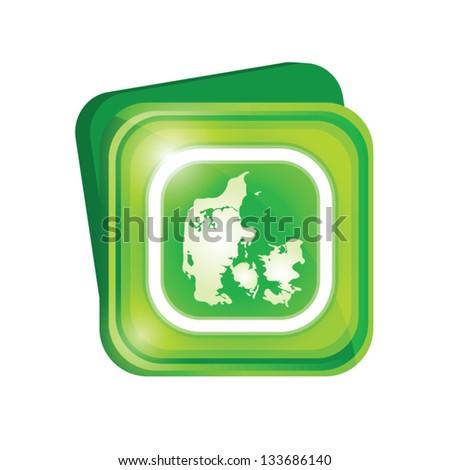 Denmark sign - stock vector