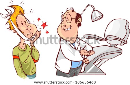 dental and  patients - stock vector