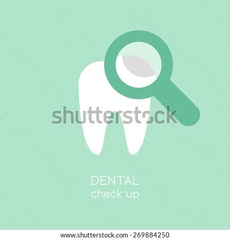 Dental check up - stock vector