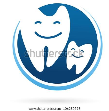 dental clinic vector icon - smile teeth - stock vector