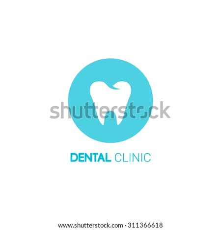 Dental clinic vector logo. Tooth icon. Tooth vector. Tooth vector logo. Dental logo. Dental vector logo. Vector logo. Dental clinic logo. Tooth vector logo. Tooth logo. Dental logo. Tooth icon - stock vector