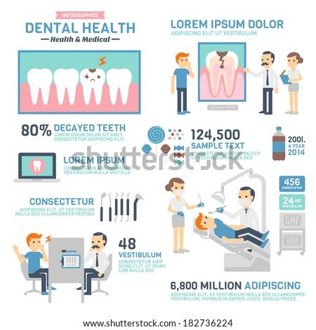 Dental Health Infographics - stock vector