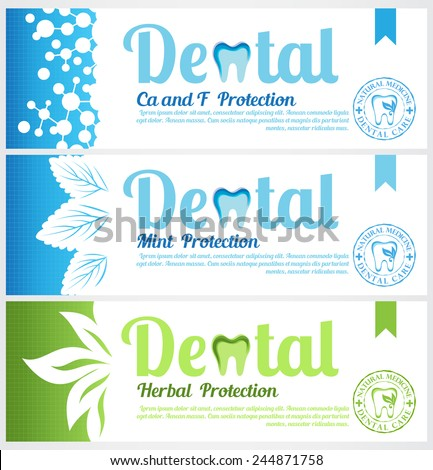 Color Labels on Toothpaste Set of Toothpaste Pack Labels