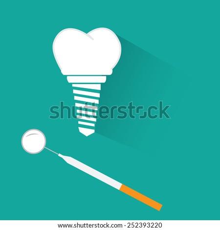 dental implant - stock vector