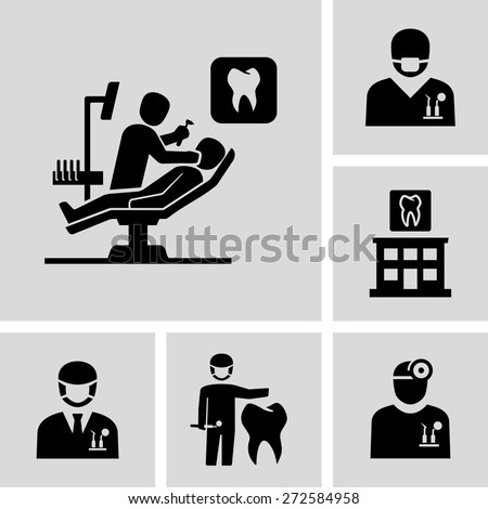 Dentist icons  - stock vector