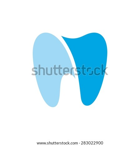 Dentist logo template. Dental clinic icon app. Happy healthy tooth idea symbol vector template. - stock vector