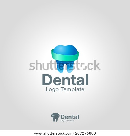 Dentist tooth logo design template. Corporate branding identity. Dental Clinic Logotype - stock vector