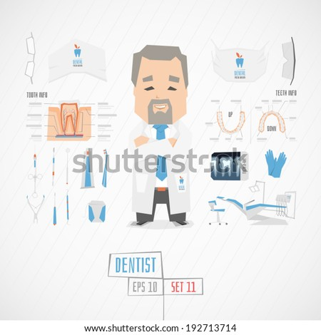 Dentist vector illustration - stock vector