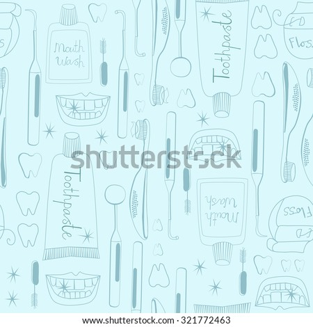 Dentistry pattern seamless tile background