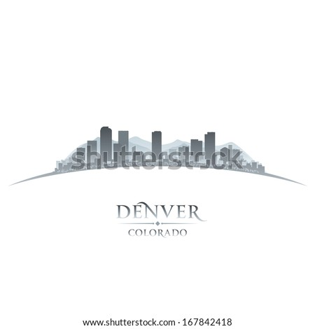 Denver Colorado city skyline silhouette. Vector illustration - stock vector
