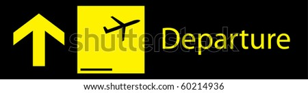 Departure sign board in airport vector graphic eps 10 - stock vector