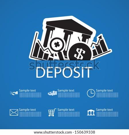 deposit bank icons design - stock vector