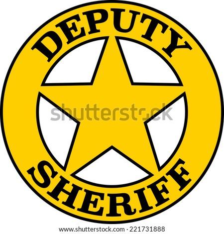Deputy Sheriff, Badge, Star - stock vector