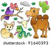 Desert animals collection 1 - vector illustration. - stock vector