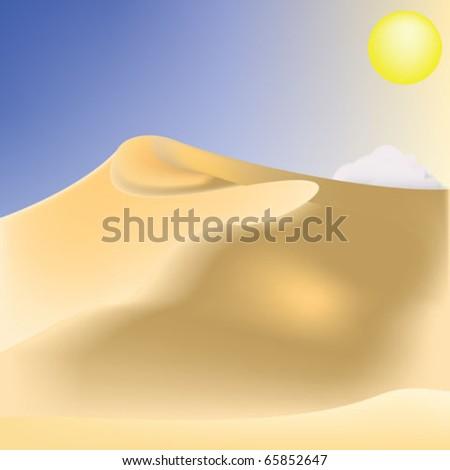 desert dunes vector - stock vector