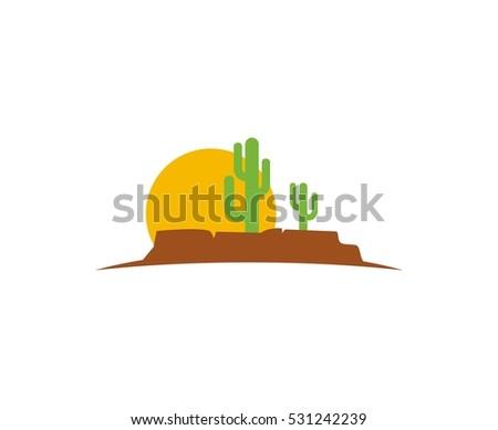 Desert Logo Stock Vector 531242239 - Shutterstock