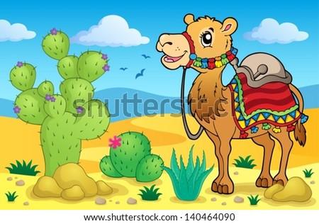 Desert theme image 1 - eps10 vector illustration. - stock vector