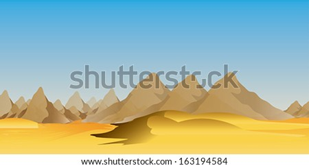 Desert wild nature landscapes - stock vector
