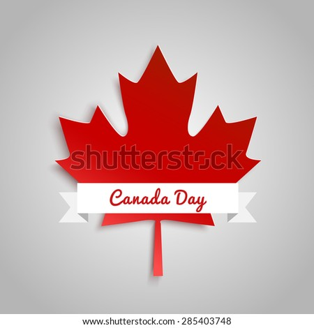 Design a banner for Canada Day 1 st of July. Vector modern stylish illustration. Vector banner for the Internet to the Canada Day with red leaves. - stock vector