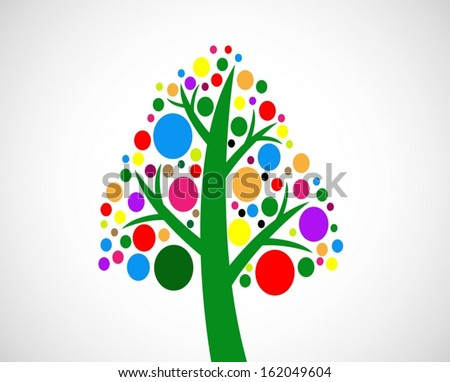 Design Abstract tree in Vector illustration
