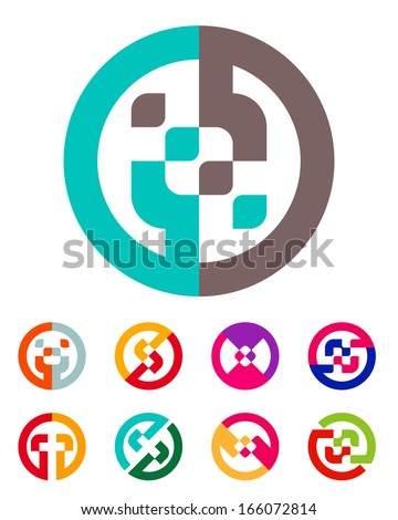 Design abstract vector logo template. You can use in the commerce, medical, financial, religion and communication concept of pattern. - stock vector