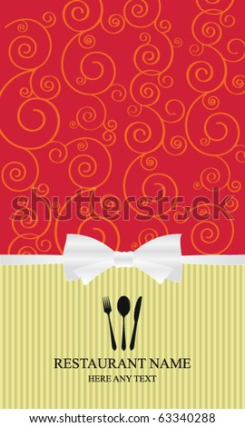 Design an elegant menu & label - stock vector