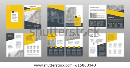 Design Annual Reportvector Template Brochures Flyers Stock Vector - Template brochures