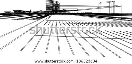 design architecture vector abstract background