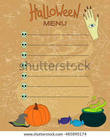 design background for the menu on Halloween