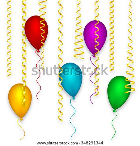 Design Background Happy Birthday Party Holiday Stock Vector