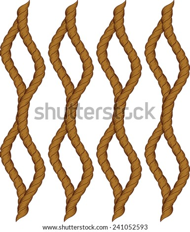 Design background with the curvature of the rope.