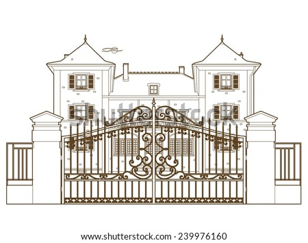 Design behind the castle gate
