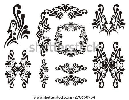 Design bird elements - stock vector