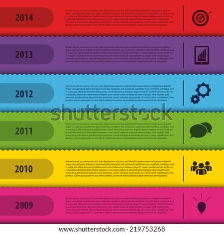 Design bookmark template. Infographics timeline. Vector - stock vector