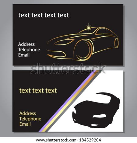 Design Business Card For Auto Vector