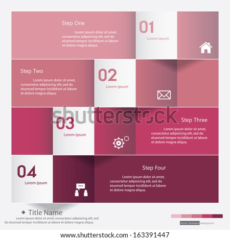 Design clean number banners template/graphic or website layout/timeline. Vector