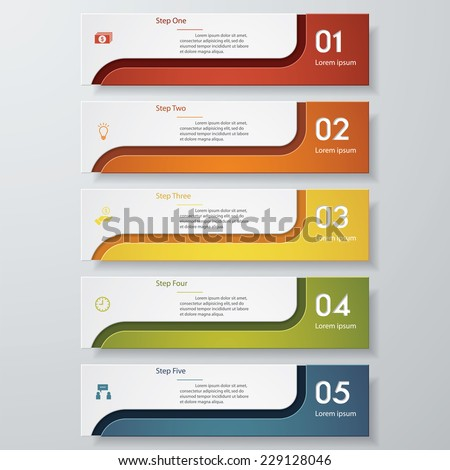 Design clean number banners templategraphic website stock vector design clean number banners templategraphic or website layout vector publicscrutiny Gallery
