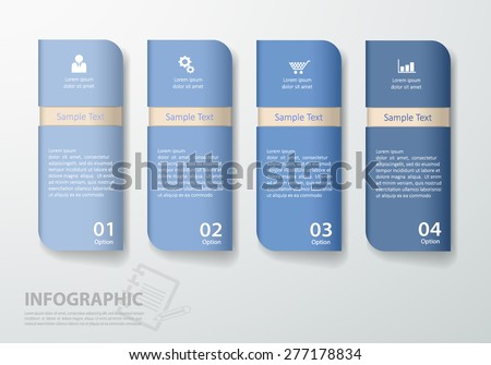 Design clean template/graphic. can be used for workflow layout, diagram, number options, web design. - stock vector