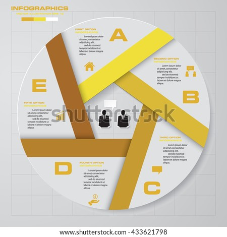 Design clean template/graphic or website layout. 5 step order diagram layout. - stock vector