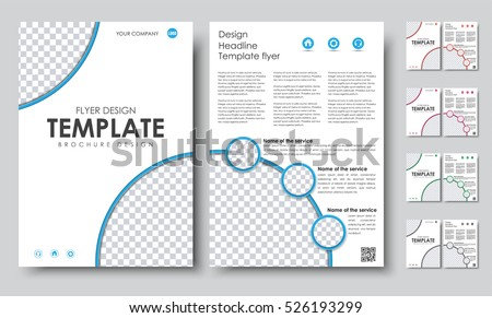 Design color a4 brochures template 2 stock vector for Two page brochure template